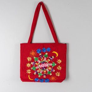 NWOT Hand embroidered kids of the world bag